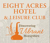 Eight Acres Hotel & Leisure Club in Elgin, Morayshire logo